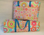 Cricut Explore Air Carrying Case / Accessory Bag / Silhouette Cameo 3 / Brother ScanNCut 2 / Bright Medallion Flower Print