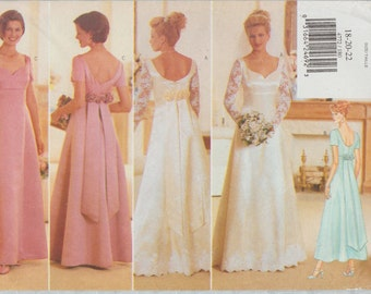 Butterick 4772 / Vintage Sewing Pattern / Bridal Bride Bridesmaid / Wedding Dress Gown / Sizes 18 20 22