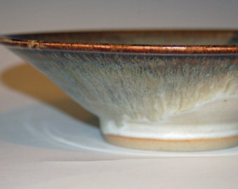 Pottery, Bowls, Ceramics and Pottery, Home and Living, Kitchen and Dining, White and Gold, Dining and Serving, Wheel Thrown, Fruit Bowl