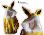 MADE TO ORDER Jolteon inspired hoodie cat fox bunny eeveelution