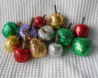 12 Sequined Fruit Ornament Collection Holidays Party Home Decoration