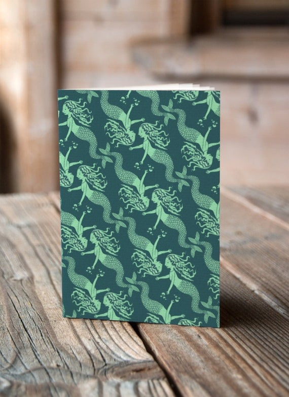 A6 Mermaids Pattern -  Notebook / Sketchbook / Journal