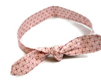 Pink Moda Print Rockabilly Hair Scarf