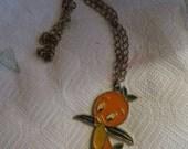 Original 1970s Vintage Walt Disney Orange Bird Necklace collectible: Walt Disney,  Bird Necklace FLORIDA MASCOT disney world