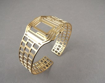 watch bracelet, gold watch, watch jewelry, watch cuff, cool jewelry