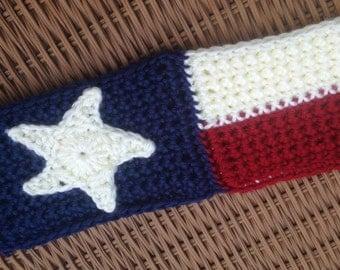 Texas Headband, Texas State Flag Ear Warmer, Headband, Texas Ear Warmer, Lone Star Pride, Texas State Flag Headband, Red, White, Blue