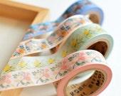 Meetape Flowers Washi deco floral Masking Tape