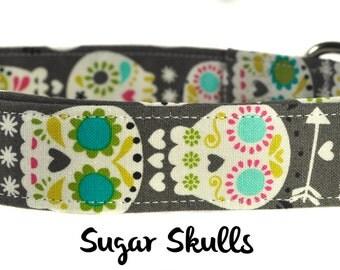 Sugar Skulls - Multicolored Dog Collar