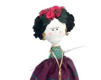 Frida Kahlo DOLL - OOAK home decoration / Handmade in Italy