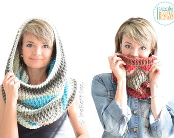 CROCHET PATTERN Cake Craze Chunky Cowl PDF Crochet Pattern with Instant Download