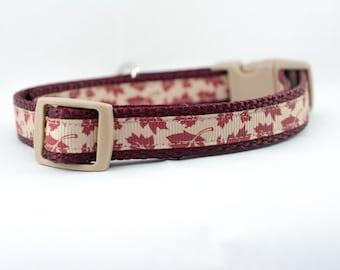 Fall Leaves Dog Collar - Fall Dog Collar - Autumn Dog Collar - 5/8 inch wide collar  - Thanksgiving collar - Autumn Leaves dog collar