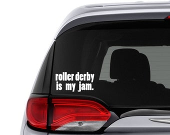 Roller Derby Car Decal Car Decal For Woman Roller Skating