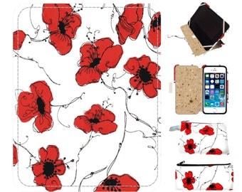 Red Poppy ipad air 2 case| ipad mini 4 case| ipad mini case| ipad air case| kindle paperwhite cover| ipad mini 2 case| kindle paperwhite