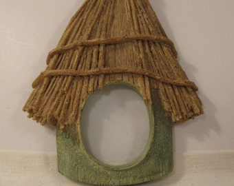 Picture Frame by Marjolein Bastin - Thatched Birdhouse - Hallmark - Use Standing or Hanging