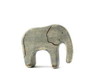 wood toy elephant, elephant baby waldorf toy, wooden toys, waldorf toys,  waldorf animal toy