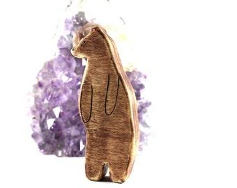 bear wooden toy, waldorf animal toys, wood animal toys, bear figurine, vegan kids