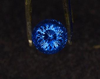 Portuguese Cut dark or light blue Quartz 10.00 mm