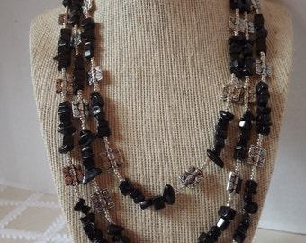Blackstone and Silver Necklace