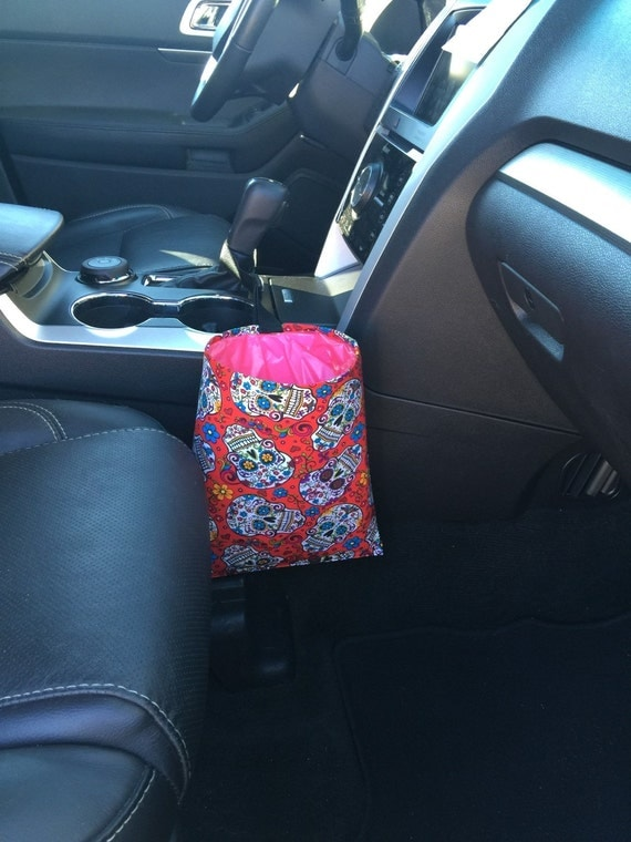 Car Trash Litter Bag Sugar Skull My Sugar Skulls