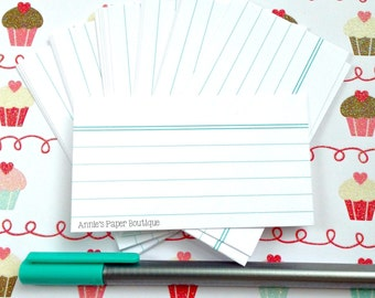 Mini Index Card - White (24) - Notes, Planners, Stationery, Reminders, Tags
