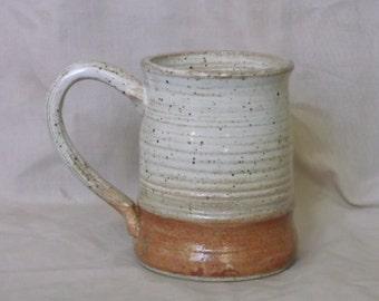 Cream and Rusty Red Mug.
