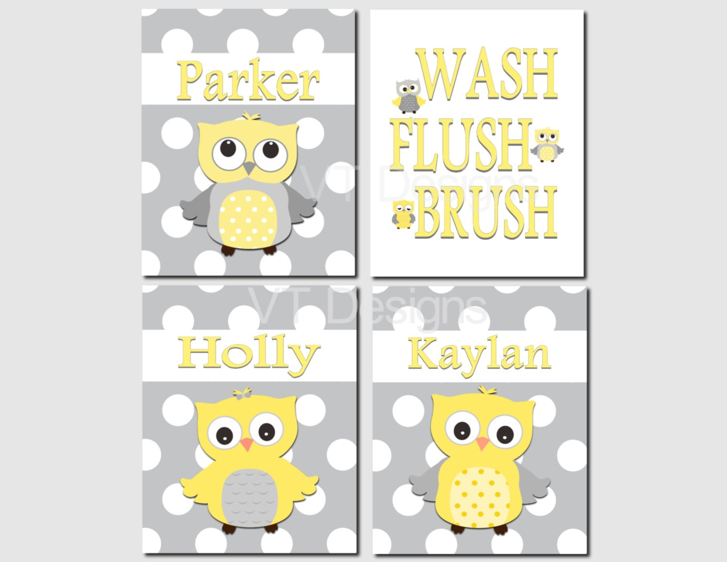 Brothers And Sister Bathroom Art Kids Bathroom Art Owl