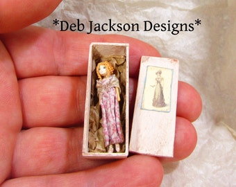 """From *DJD* Regency style boxed doll.The doll is1/1/4"""" tall."""