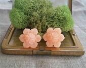 Flower Plugs, Wedding Gauges, Prom Gauges, Peach
