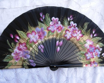 hand painted spanish fan FREE SHIPPING