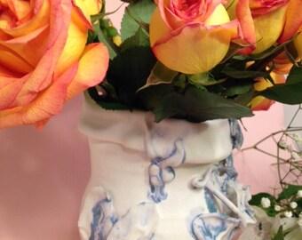 Angel Garden, Porcelain Boho Deco Vase Pitcher