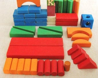 Building Blocks, Blocks, Architectural, Building, Creative Toys, Learning Toys, Wooden Blocks, Vintage Toys, Toys, Architecture, Toy Blocks
