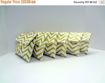 ON SALE Gold Bridesmaid Clutches Gold Chevron Bridesmaid Gifts - SET Of 6