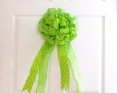 Lime Green Bow * Green Tree Topper Bow * Lantern Bow * Gift Bow * Wreath Bow * Summer Bow * Summer Decor * Bow Door Hanger