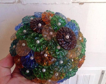 Free Shipping Set of 1970's glass lampshades E2188