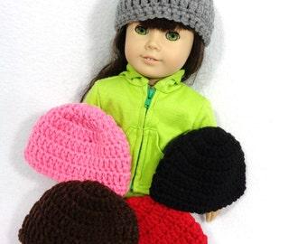18 Inch Doll Hat, Crochet Beanie for American Girl, Winter Cap for Doll, Gift for Little Girl, Stocking Stuffer, Birthday Party Favor