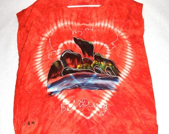 Cool Vintage Tie Dyed Hand Painted T-shirt- Size M/L
