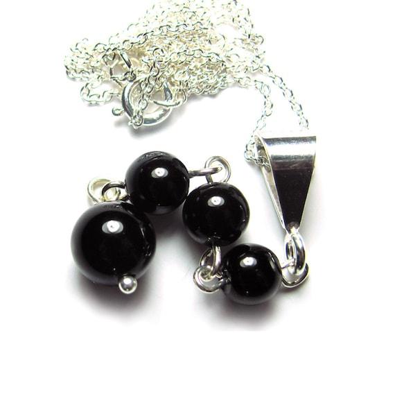 black tourmaline meditation pendant chakra necklace by