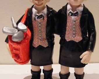 Bespoke Handmade Personalized Wedding Cake Toppers- Civil Partnership