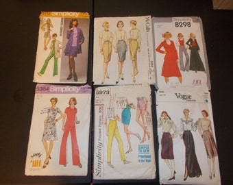 Inventory 75 Vintage Sewing Patterns Lot of 6 size 12