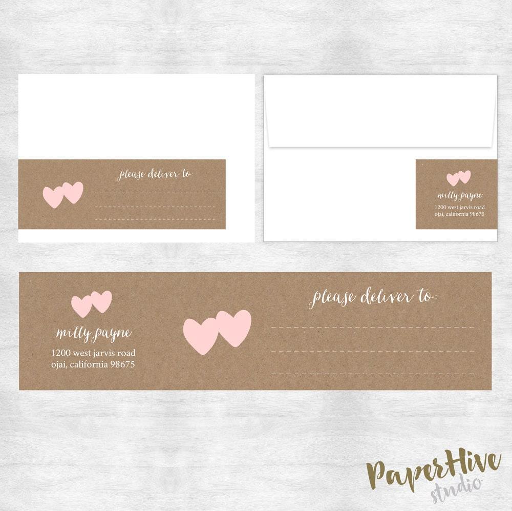 envelope wrap return address label wraparound address. Black Bedroom Furniture Sets. Home Design Ideas