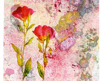 Splashprint Poppies Art Print