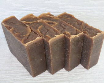 4 Bars Vanilla Handcrafted Goat Milk Soap Made in Maine, Bath,Body,Soap, Cold Process Soap, Handmade Soap, Dry Skin Bar Soap