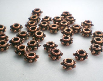 7mm Genuine Copper Beads Solid Copper Spacer Beads 20 pcs. GC-340