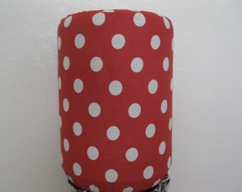 Red and White Dots Bottle cover- Home Cooler decor-5 Gallon Bottle Cover