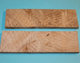 Knife Scales for Sale, Book Matched Red Maple Burl Knife Scales,  Set of 2, D154
