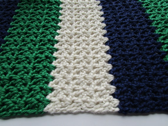 Crochet Patterns For Baby Blankets With Bulky Yarn : Nautical Blocks Bulky Yarn Blanket Easy Crochet by ...