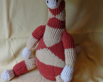 Hand Knit Toy  Giraffe