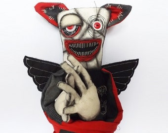 Gothic Horror Doll Halloween Horror Bat Creature Ghoul Demon Doll