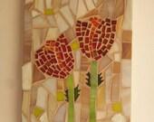 Israel, Art, Israel National Flower, Mosaic, Glass, Hang Wall, Ornament, Israel gift, Flowers Decor, Israel Artists