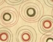 Essence fabric - Sandy Gervais - Moda - circles on cream - OOP HTF